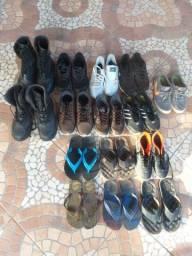 Tênis, sapato, coturno e sandálias