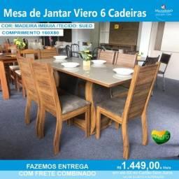 Mesa de Jantar Viero 6 Cadeiras  160/80