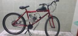 Bicicleta com moto. bicicleta motorizada