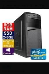 Cpu Pc Torre Core I5 3.20ghz 8gb Ssd 240gb  (NOVO) em até 6x sem juros.