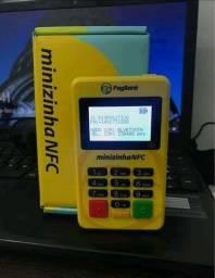 Máquinas de cartão Minizinhas NFC de crédito, débito e pix