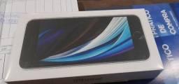 Lacrado! Nunca ligado! iPhone SE 2020 64gb Branco Magazine Luiza NF e garantia 1 ano