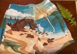 Shorts masculinos de praia