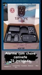 Alarme com Chave canivete Já instalada com 1 ano de garantía por R$ 480,00