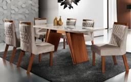 Conjunto de Mesa Atena 1.80x0.90 6 Cadeiras