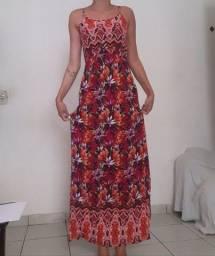 Vestido longo florido tam P