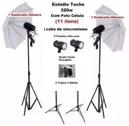 Kit Tocha Flash Fotografia Estúdio