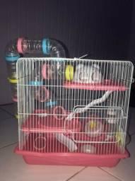 Gaiola hamster 3 andares (JÁ USADA)