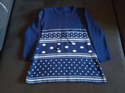 Vestido de lã infantil