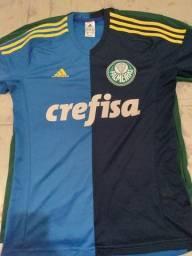 Camisa Palmeiras meio a meio goleiro.