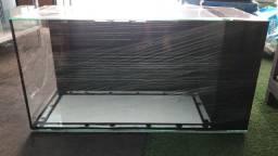 Aquário 100x40x50 sump lateral novo