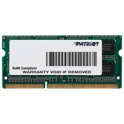 Memória Patriot Signature 8GB (1x8GB), 1600MHz, DDR3, p/ Notebook, CL11 - PSD38G1600L2S