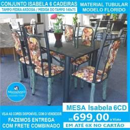 Mesa Isabela 6 Cadeiras 140x75