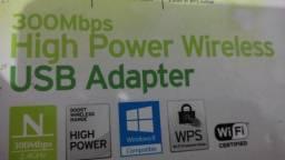 adaptador usb wifi 300mb tplink dual antena