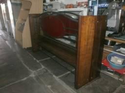divisória de madeira maciça - vidro e ferro - ideal para restaurante e panificadoras