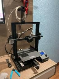 impressora 3d ender 3 em estado de nova, com 4 filamentos