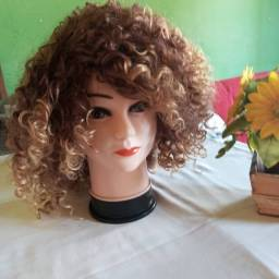 Lace wig sintética Black Loiro