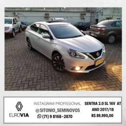 Sentra 2.0 Sl 16V Ano 2017/18 R$ 89.990,00