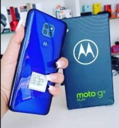 Moto g9 play novo azul pérola