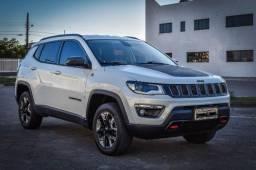 Lindo Jeep Compass Trailhawk 2.0 diesel 4×4 2017 branco perolado.