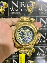 Relógio Invicta zeus bolt detalhes bronze novo