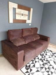 sofa 3 lugares retrátil e reclinavel entrego imperdível