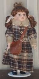 Boneca de porcelana vintage - comprada na espanha
