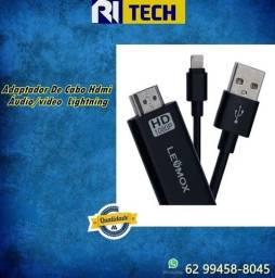 Cabo Adaptador Hdmi Usb Para iPhone Lightning Full Hd 1080p