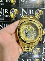 Relógio Invicta zeus bolt skeleton detalhes preto