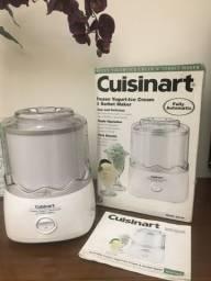 máquina de sorvete cuisinart ice-20 ! importada eua! usada 1x! 1,40 litros