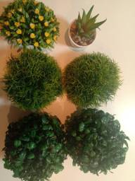 PRA LEVAR AGORA!! 5 buchinhos de planta artificial + 1 mini vaso suculenta