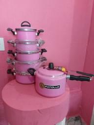 Kit cozinha rosa