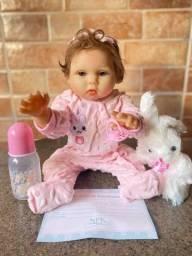 Bebê Reborn toda em Silicone realista Nova Original Fotos Reais(aceito cartão