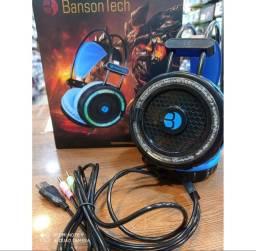 Fone HEADSET BANSON-F1608 - BANSONTECH GAMER com refrigeração de agua