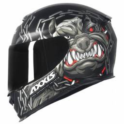 Capacete Axxis Eagle Bull Cyber Black