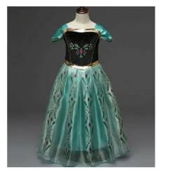 Fantasias Princesa anna Frozen Verde