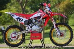 honda crf 230 f, preparada com motor 300 cc