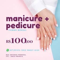 Serviços de Manicure, pedicure e alongamento