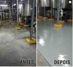 Tinta epoxi para pisos industrial e comercial R$ 35.00m2