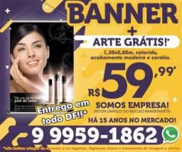 Banner R$59 ou 3 mil cartão de visita R$99 - Entrega em todo DF!