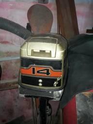 Motor de poupa 2 tempo de 14 hp negociável