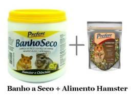 Kit Banho a Seco + Alimento p Hamster 500gr