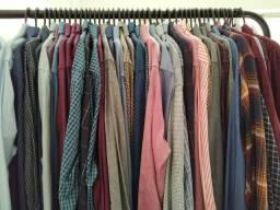 LOTE 255 camisas sociais e casuais masculinas