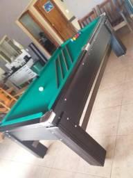 Mesa Gaveta Semi oficial Cor Preta Tecido Verde Mod. XPKQ0141