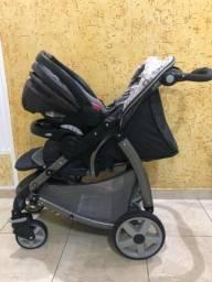 Carrinho e bebê conforto Graco Click Connect + espelho para carro