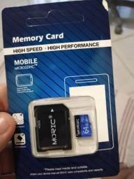 Cartão memória micro sd 64 gb novo celular câmera outros