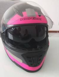 Capacete rosa norisk tamanho 58
