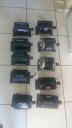10 Motores 1/2 cv já com polia, monofásico(110/220w), baixa rotação 1720rpm