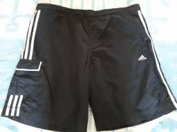 Bermuda Adidas Corrida academia com bolso
