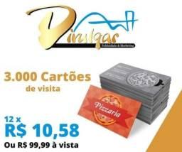 3.000 cartões de visita por apenas R$ 99,00